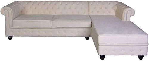 Ecksofa Sofa Samt Couch Chesterfield Wohnzimmercouch Retro Sitzgarnitur Polstergarnitur fha063 Palazzo Exklusiv