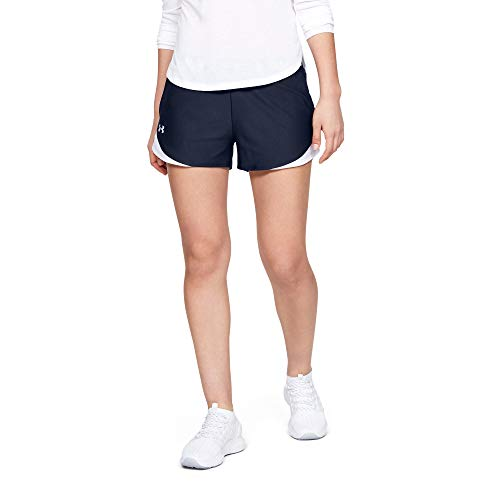Under Armour Women's Play Up 3.0 Shorts , Midnight Navy (410)/White , Small