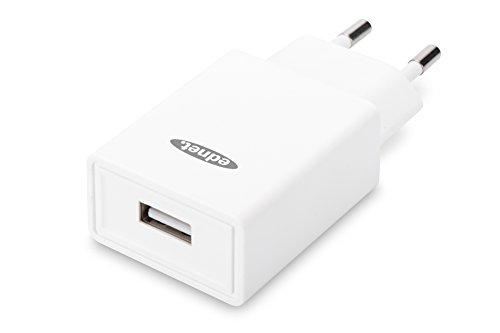 ednet 31810 Universal USB-Lade-Adaper, Ladegerät, 1-Port, 5V/2.1A, Weiß