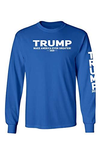 SHORE TRENDZ Unisex Trump Make America Even Greater 2020 Long Sleeve Shirt...
