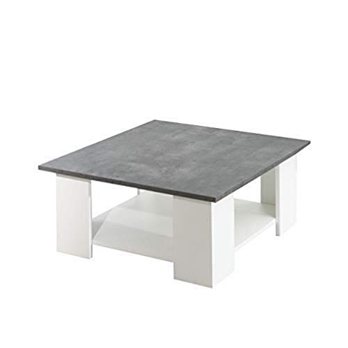 TemaHome Table Base Square, Panneaux de Particules Mélaminés, Blanc, 67 x 67 x 30,5 cm