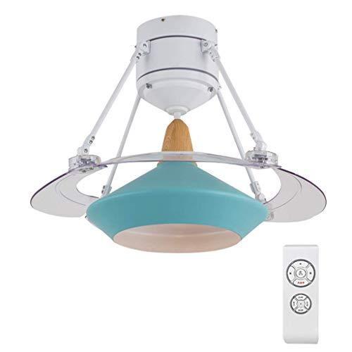 BAIJJ plafondventilator, eenvoudige, Scandinavische stijl, plafondlamp, geschikt voor woonkamer en eetkamer, vleugelventilator met 3 snelheden, met afstandsbediening en led-lichtbron