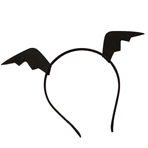 Amosfun 2 diademas de cuerno de diablo para Halloween, fiestas, carnaval, máscaras, vacaciones, cosplay, accesorios para fiestas