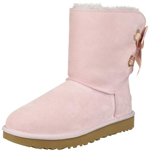 UGG Women's W Customizable Bailey Bow Short Fashion Boot, seashell pink, 9 M US