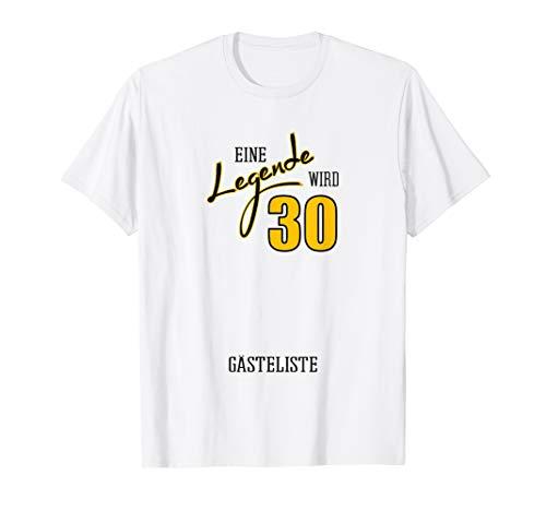 30ter Geschenk zum 30. Geburtstag Männer Geburtstagsparty T-Shirt