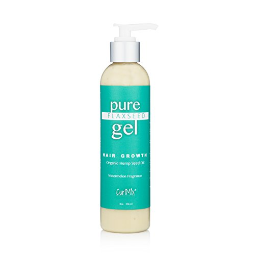 Pure Flaxseed Gel with Organic Hemp Seed Oil for Hair Growth (Watermelon Fragrance) As Seen on Shark Tank