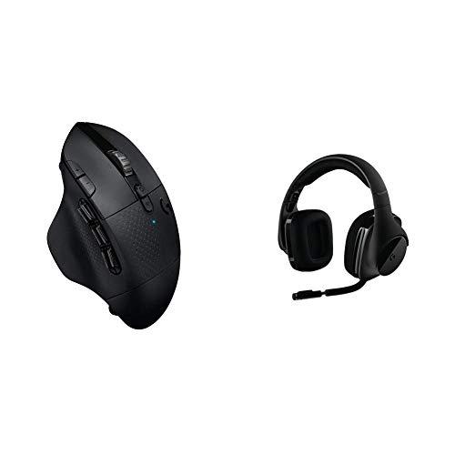 Logitech G604 Lightspeed Wireless Gaming Mouse & G533 Wireless Gaming Headset – DTS 7.1 Surround Sound – Pro-G Audio Drivers