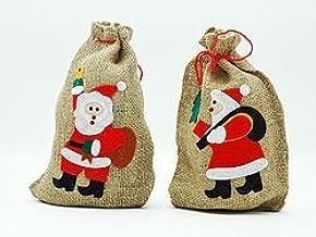 Advent Weihnachtsfest Gr/össe 100x60 cm mit Weihnachtsmann Motiv Organzabeutel24 1 Jutebeutel Weihnachten Geschenkverpackung Santa Claus Jutesack Nikolaus Natur//Weiss