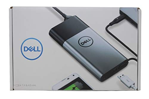 Dell Hybrid Adapter + Power Bank | PH45W17-BA - 45W AC Adapter + Notebook Power Bank (43Wh), Compatible with P/N: C2KNV, 492-BCCW- Retail Box