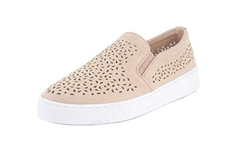 Vionic Women's Splendid Midi Perf Slip-on - Ladies Sneakers with Concealed Orthotic Arch Support Dusty Pink 7 M US