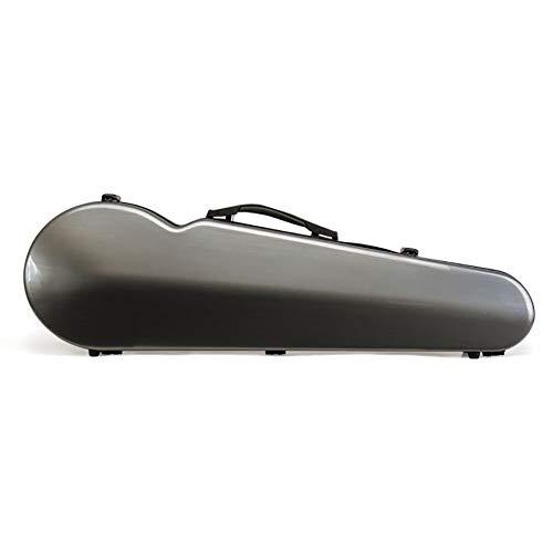 BLKykll Custodia per Violino,Custodia Integrale per Violino 4/4,Custodia per Violino Grigio Argento Fibra di Carbonio FRP per Proteggere Il Violino