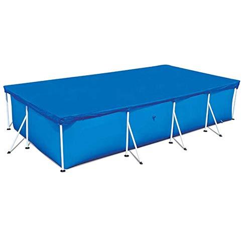 SUNERLORY Cubierta para piscina ligera, fácil de usar, rectangular y limpia, para...