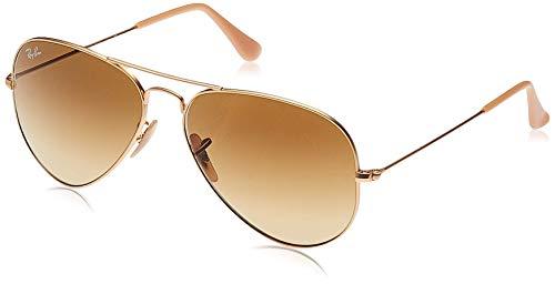 Ray Ban Unisex Sonnenbrille Aviator, Gr. Large (Herstellergröße: 58), Gold (gold braun 112/85, Gläser: braun verlauf)