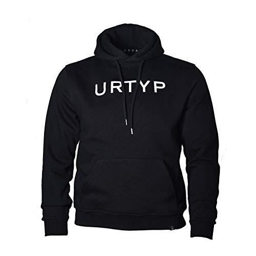 ASTRA Urtyp Hoodie Unisex, Sweater in Schwarz, sportlicher Kapuzen-Pullover mit Logo-Print auf Brust & Kapuze, Pulli für Männer & Frauen (XL)