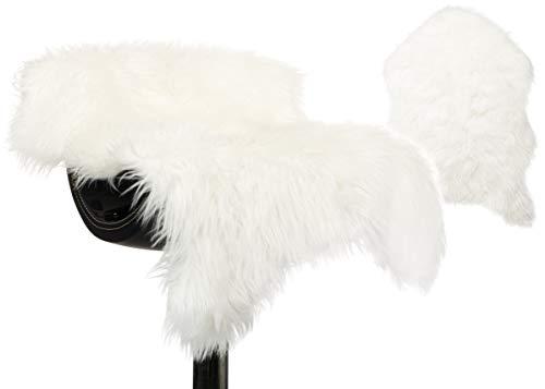 Brandsseller imitatiebont tapijt loper fauteuilovertrek schapenvacht-look - luxe kunstbont tapijten - 55 x 80 cm