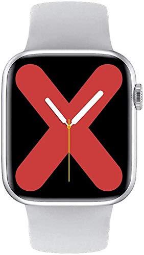 Reloj inteligente de moda para hombres y mujeres, monitor de ritmo cardíaco, presión arterial Ip68, termómetro inteligente, relojes Bluetooth, color negro y blanco