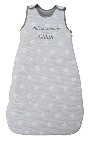 Saco de Dormir para bebé Bordado con EL Nombre del BEBÉ. Varios Modelos y Tallas Disponibles (Dulces Sueños, 6-24 Meses)