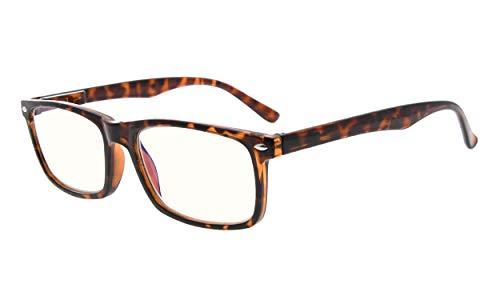 Eyekepper Leser UV Schutz,Anti Blendung Brille,Anti Blue Rays Früher Frühling Scharniere Computer Brille Lesebrille Schildpatt +0.75