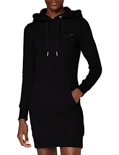 Superdry Orange Label Sweat Dress Robe décontractée, Noir, S Femme