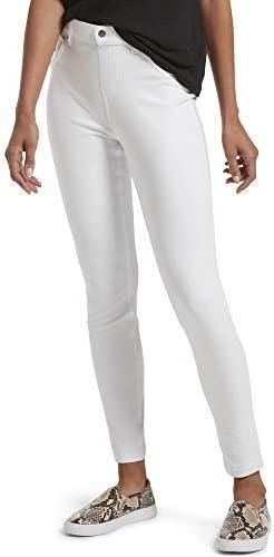 HUE Women s Ultra Soft High Waist Denim Leggings White Small product image