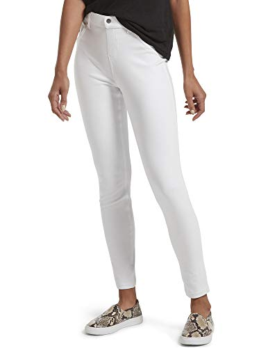 HUE Women's Plus Size Ultra Soft Denim High Waist Legging, White, 1X
