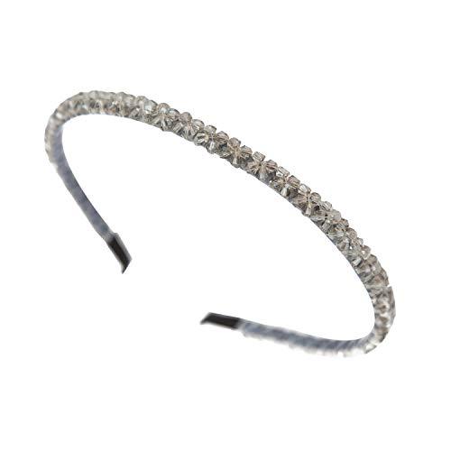 Hoofdbanden Haarbanden voor Vrouwen Baby Meisjes Tiara Alice Gun Grijs Strass Steentjes Crystal door Trimming Shop®