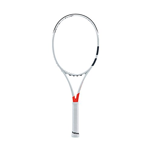 Babolat 2017 Pure Strike 16x19 Silver/Orange Tennis Racquet (4 3/8'...