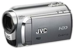 JVC GZ-MG610 SEU Hybrid-Camcorder (HDD & microSD, 30 GB Festplatte, 35-Fach Opt. Zoom, 6,9 cm (2,7 Zoll) Display) Diamant-Silber