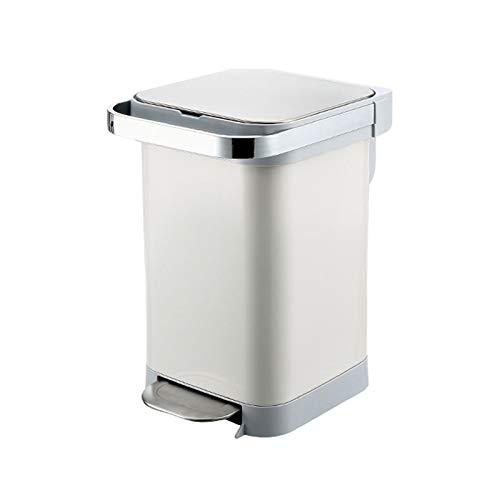Mülleimer Pedal Trash Can Edelstahl Haushalt Großvolumige Trash Can Küche Wohnzimmer mit Deckel Müllbehälter (25 Liter / 6,6 Gallonen) Abfalleimer fürs Bad (Size : B-15L)
