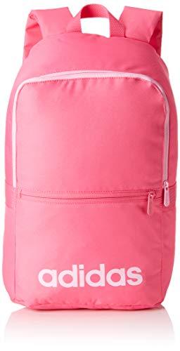 adidas Linear Classic Daily, Mochila, Rosa (Rosa (Pink/Grey/True Pink)), 16x28x46 cm (W x H x L)