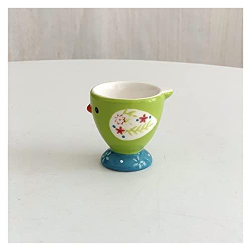 Hueveras Copa de huevo de cerámica lindo animal creativo pintado a mano de cerámica de cerámica bandeja linda linda bandeja de huevo de pollo decoración de la cocina casera (Color : A)