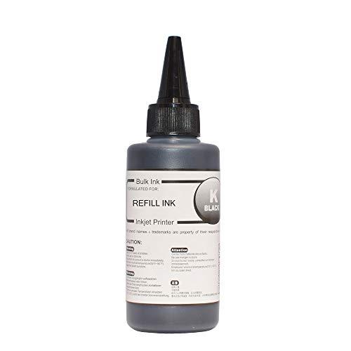 LIUYB 304 XL Tinta de Impresora for HP DeskJet 2620 2630 2632 5030 5020 5032 3720 3730 5010 HP 304 Cartucho de Tinta Ciss Kit de Tinta de Recarga 4x100ml (Color : 100ml Black Ink)