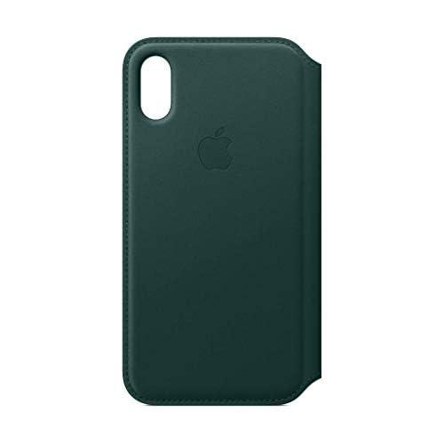 Apple Custodia folio in pelle (per iPhoneXS) - Verde foresta