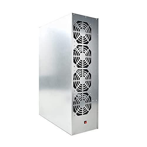 Zayaa BTC-S37 Mining Chassis Combo 8 GPU Bitcoin Crypto Ethereum BTC Placa Base de minería de Baja Potencia con 4 Ventiladores 8GB RAM mSATA SSD