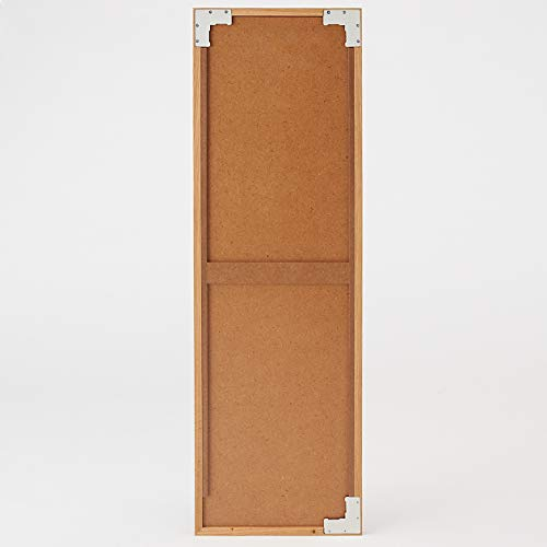壁に付けられる家具・ミラー・中・オーク材幅32.5×奥行2×高さ100cm37286214