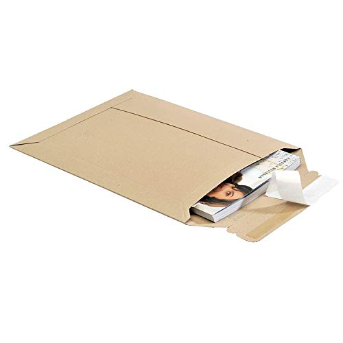 Lot de 25 enveloppes d'expédition en carton 250 x 353 mm jusqu'à 20 mm de hauteur, idéales pour DIN A4, carton ondulé, couleur marron Toppac tP335 (25 cartons, format A4)