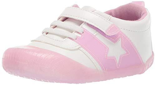 Ro + Me by Robeez Girls' Alyssa Athletic Sneaker Crib Shoe, Pink Sparkle, 6-12 Months