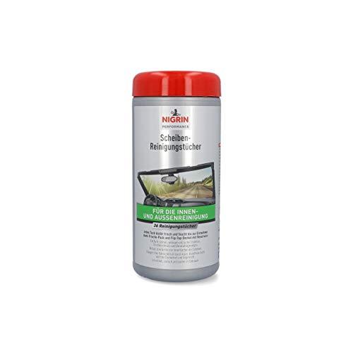 NIGRIN Scheiben-Reinigungs-Tücher, feuchte Tücher für Innen-und Außenreinigung, entfernt Insekten, Straßenschmutz, 36 Stück
