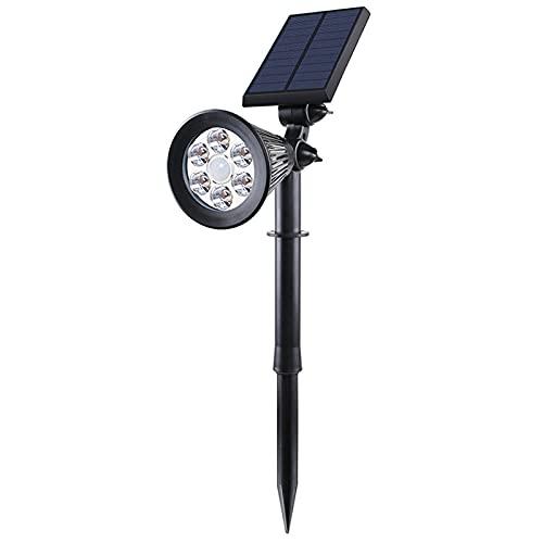 CLLX Jardin Focos Solares Exterior Impermeable LED Lámparas Solares Rotation de 180° Para Patio, Calzada, Piscina y Camping,Warm Light