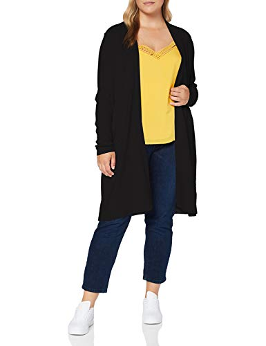 comma Damen 85.899.64.1311 Strickjacke, 9999 Black, XL