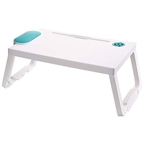 SUN LUX Laptop-Betttisch, Frühstück Serviertablage,Notebookständer, Lese Tisch Stabiler Tragbarer, Bett Tablett mit Tassenschlitz, Buchhalter für Sofa, Multifunktionstisch(60 * 40cm)