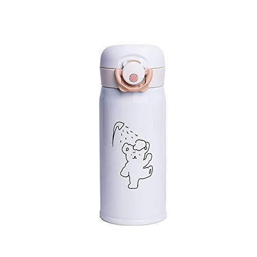 LRHD Boccette bottiglia a perfetta tenuta di viaggio tazza di metallo vuoto isolato Bottiglia acqua for bevande calde e fredde acqua dell'acciaio inossidabile for lo yoga, ginnastica e lo sport Kids C