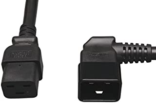 C13//5-15P MM682556 Power Cord 14AWG Right Angle Power Cord Cable w//3 Conductor PC Power Connector Socket Marginmart Inc Black 6 Feet