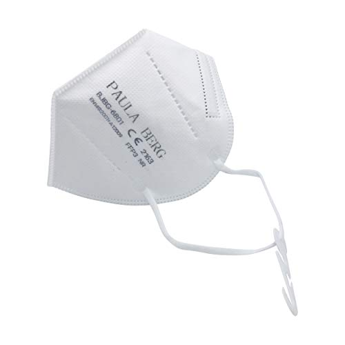 20 Faltbare FFP3 Atemschutzmaske Staubmaske Schutzmaske beergeeks PB - mit Ohrbefestigung - 99% Filter - ohne Ventil - überall einsetzbar - luftdicht einzeln verpackt