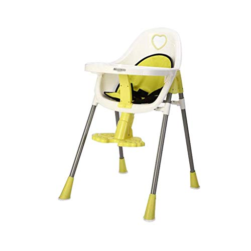 Baby kinderstoel, verstelbare voerstoel tafelstoel met opbergmand reis-eetkamerstoel, voor eetkamer woonkamer baby voedsel lade peuter hoge stoel
