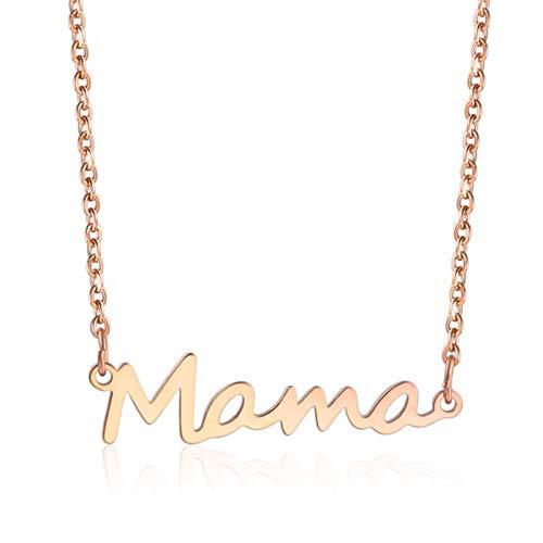 Collar con Letras de mamá de Acero Inoxidable para mamá, Collar con Colgante de Cadena para bebé, Collar Femenino, joyería, Regalo del Día de la Madre