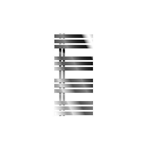 ECD Germany Iron EM Design Badheizkörper Elektrisch mit Heizstab 600 W - 500 x 1000 mm - Chrom - Designheizkörper Paneelheizkörper Heizkörper Handtuchwärmer Handtuchtrockner