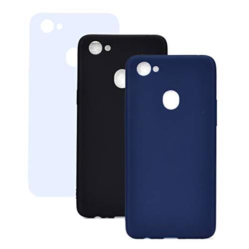 3 Farben Oppo Find 7 Hülle, Yunbaozi Protective Case Gummi Schale Silikon Schutzhülle Gelee Süßigkeiten Glatt Flexibel Schlank Hülle für Oppo Find 7, Weiß Blau Schwarz