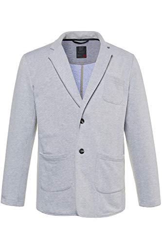 JP 1880 Herren große Größen bis 7 XL, Sweatblazer aus Jersey-Stoff, Business-Jacke mit Reverskragen hellgrau-Melange 4XL 714234 13-4XL