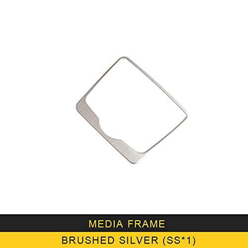 SBCX para Audi A4 A5 S4 S5 B9 2017 2018 Auto Car Center Console Media Knob Frame Cover Trim Sticker Chrome Interior Accesorio